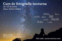 Workshop of night photography in july